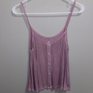 American Eagle pink purple flowy camisole